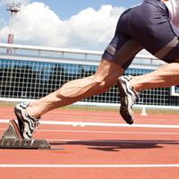 man starting race